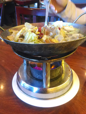 cabbage with a portable fire that burned alarmingly large