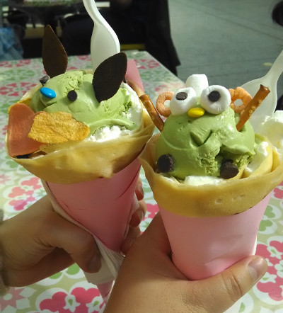 While I could have eaten two, the other one is my friend's. Crepe friends being eaten by human friends?