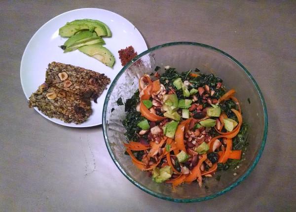 Kale salad with some alternaloaf