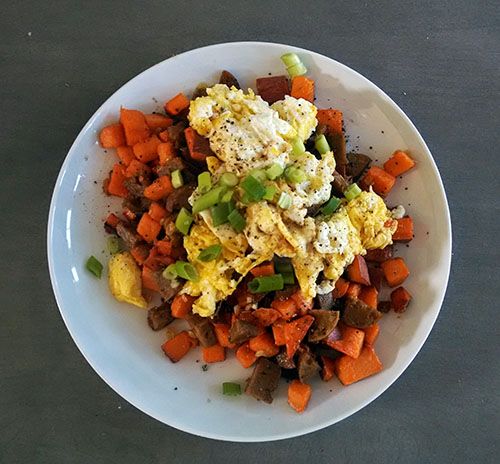 Sweet potato hash. This is one of the better photos I've posted.