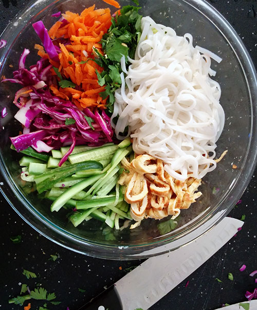 Finally, a salad that is mostly noodles.