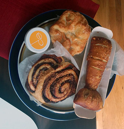 "Kouign amann, ""lobster tail,"" and nutella milk bun from Dominique Ansel"